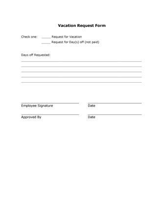 Time Off Request Form. Cool Free Sample Daycare Forms, Home .