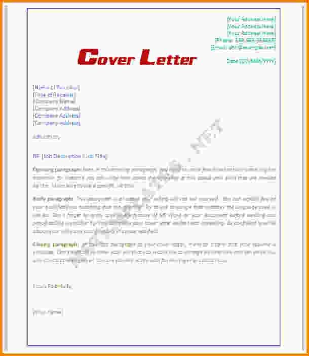 Microsoft Word Cover Letter Template.free Cover Template 1.gif ...