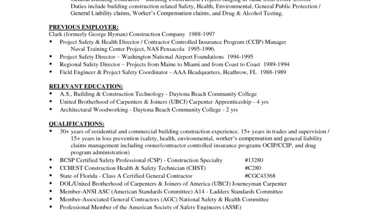 Laborer Resume Samples Construction Resume Skills Examples ...
