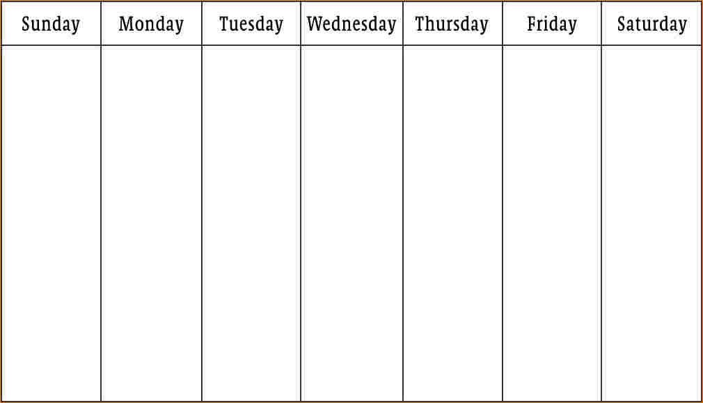 1 week calendar template - Business Proposal Templated - Business ...