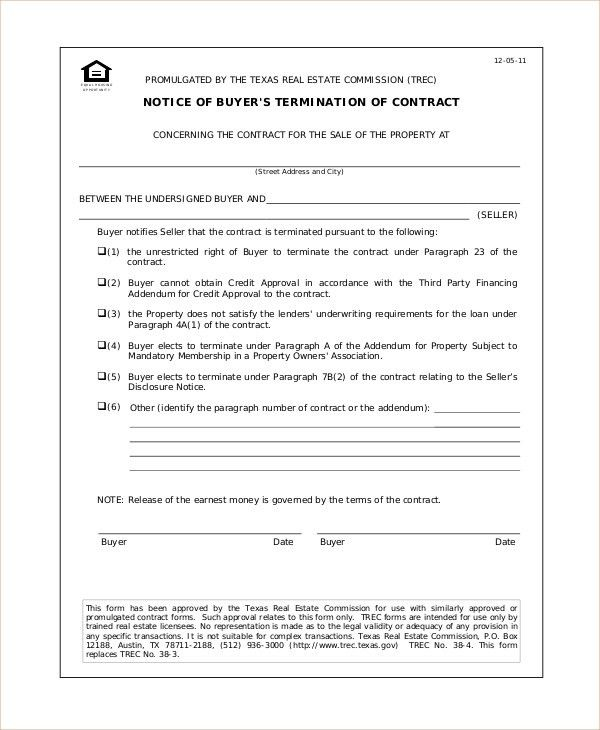 Real Estate Contract Template. Purchase Agreement - 8+ Download ...