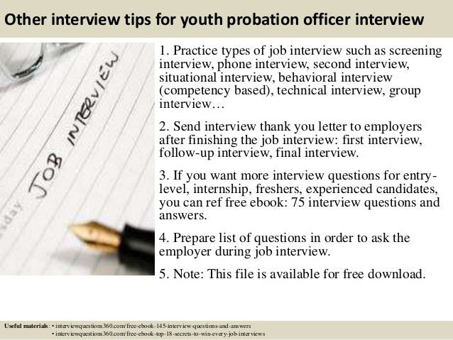 Top 10 youth probation officer interview questions and answers