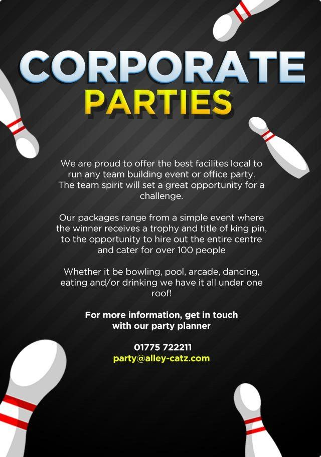 Corporate Parties | Alley-Catz Bowling Lanes