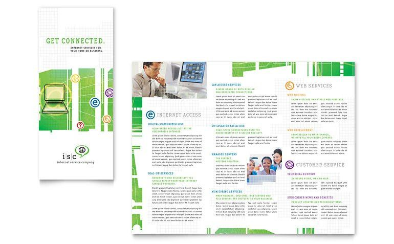 ISP Internet Service Tri Fold Brochure Template - Word & Publisher