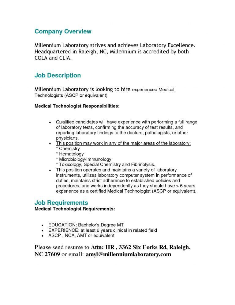 Fresh Ideas Medical Technologist Resume 12 Medical Technologist Cv ...