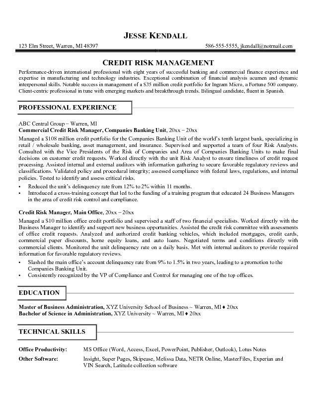 Credit Administrator Cover Letter
