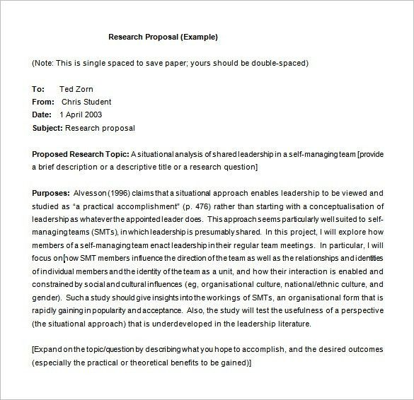 Research Proposal Template – 11+ Free Samples, Examples, Format ...