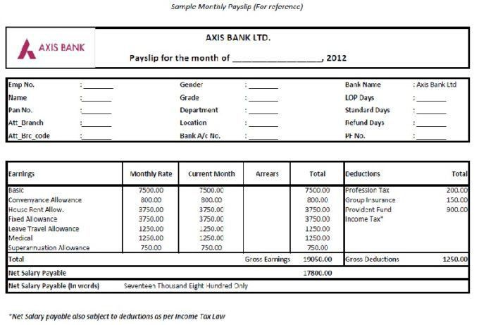 Free Downloadable Company Salary Slip In Excel And Word Formats ...