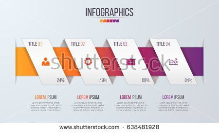 Paper Style Infographic Timeline Design Template Stock Vector ...