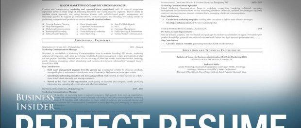 A résumé expert reveals what a perfect résumé looks like ...