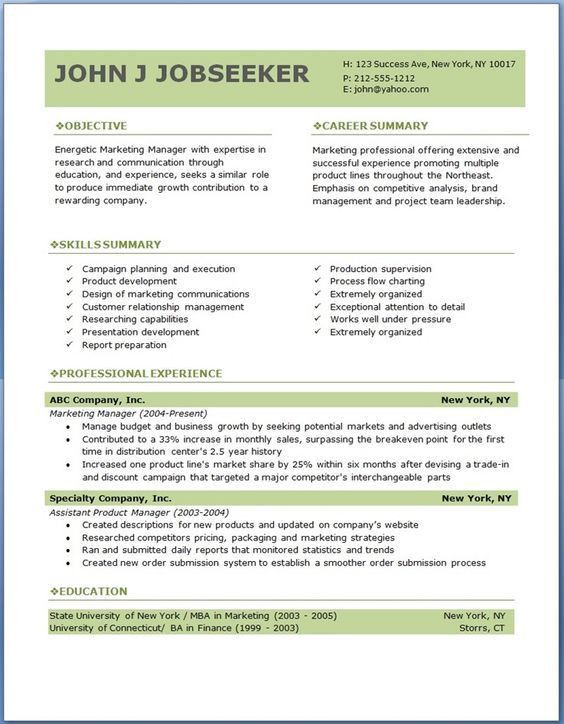 Download Resume Formats. Over Cv And Resume Samples With Free ...