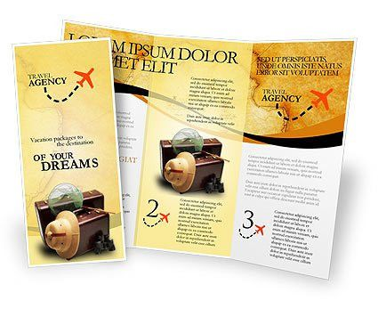 Double sided, tri fold Travel Brochure Template. http://www ...