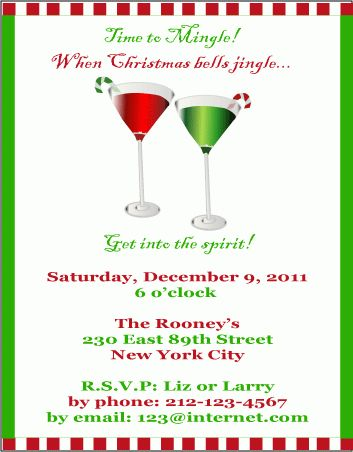 Christmas Cocktail Party Invitations - plumegiant.Com