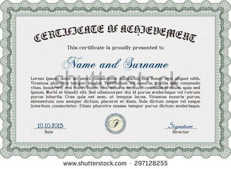 Diploma Template Certificate Template Quality Background Stock ...