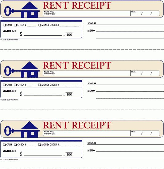 FREE Rent Receipts for Landlords | rent receipt this standard rent ...