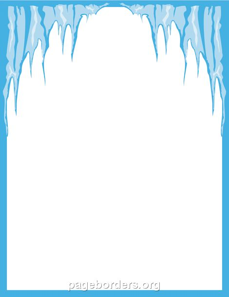 Printable icicle border. Use the border in Microsoft Word or other ...