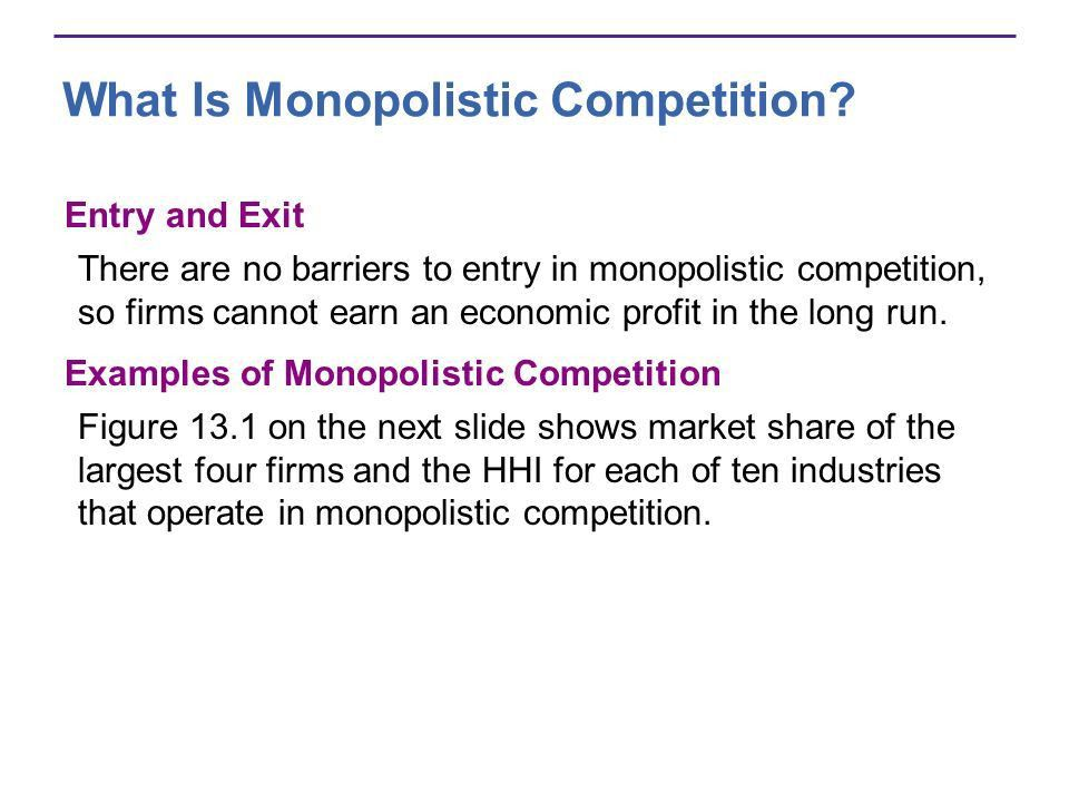 Monopolistic Competition CHAPTER 13A. After studying this chapter ...