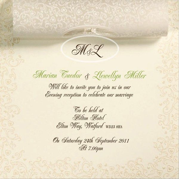 Wedding Invitation Example | HASKOVO.ME