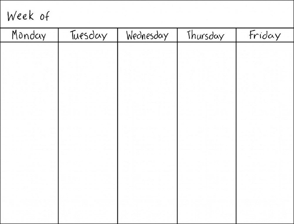 Blank Weekly Calendars Printable | Activity Shelter | Calendar ...