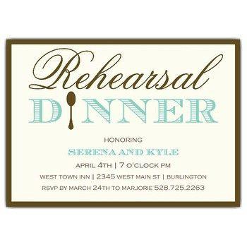 Rehearsal And Rehearsal Dinner Invitation Wording - iidaemilia.Com