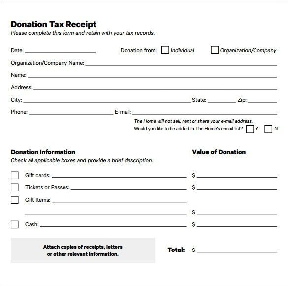 15 Donation Receipt Template Samples | Templates Assistant