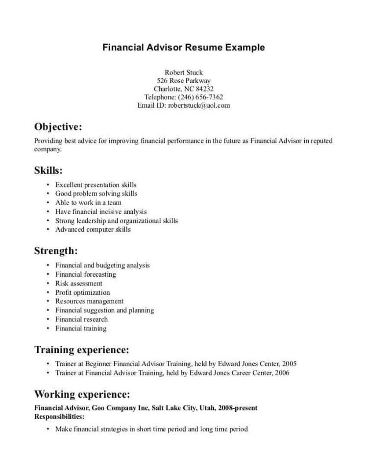 Resume For Financial Planner Financial Planner Resume Resume ...