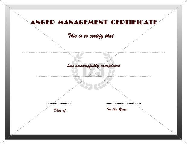 Good Anger Management Certificates Download ...