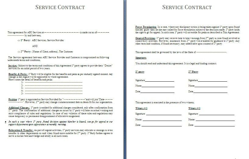 Cleaning Contract Agreement. 25+ Best Contract Agreement Ideas On ...
