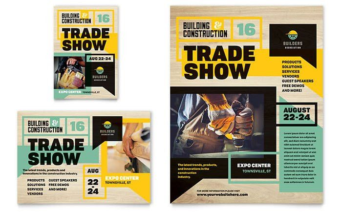 Builder's Trade Show Flyer & Ad Template Design