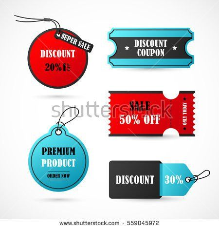 Vector Stickers Price Tag Banner Label Stock Vector 467278160 ...