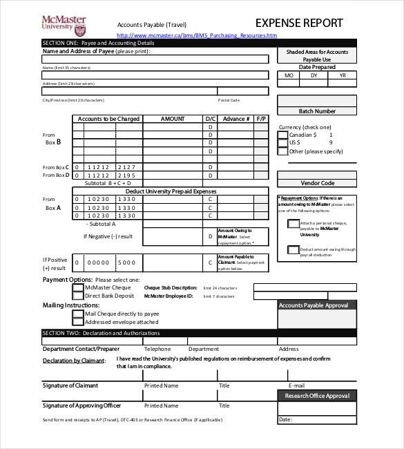 8+ Expense Report Templates - Free Sample, Example, Format ...
