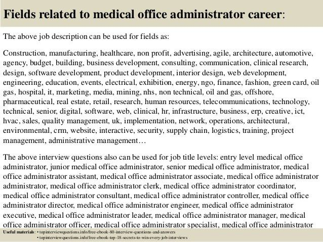 Top 10 medical office administrator interview questions and answers