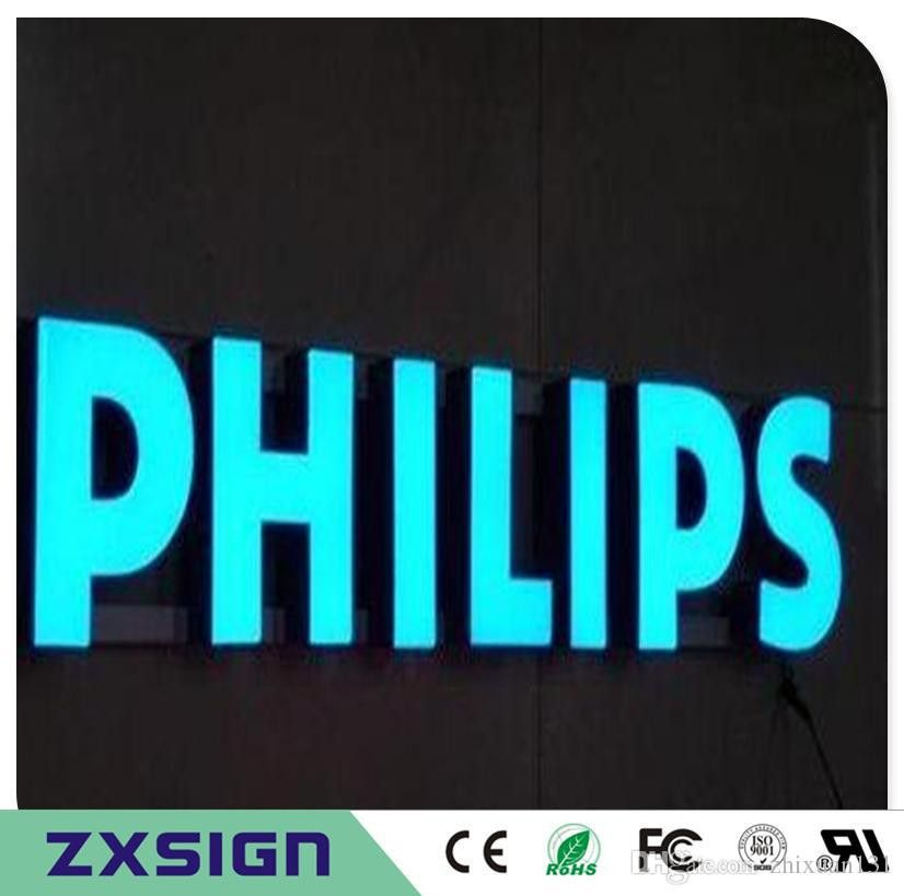 2017 Outdoor Front Lit Acrylic Light Letters, Shop Name, Company ...