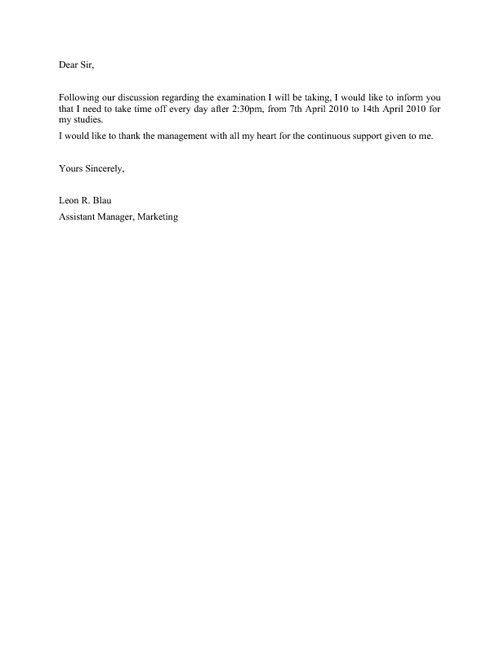 Buy Original Essay & application letter for a leave