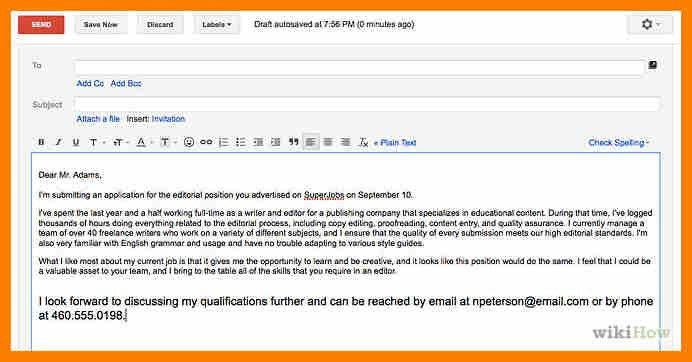 4+ formal email for attachment | science-resume