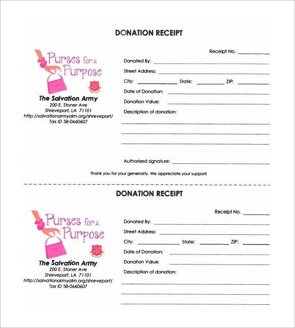 Donation Receipt Template – 11+ Free Sample, Example, Format ...