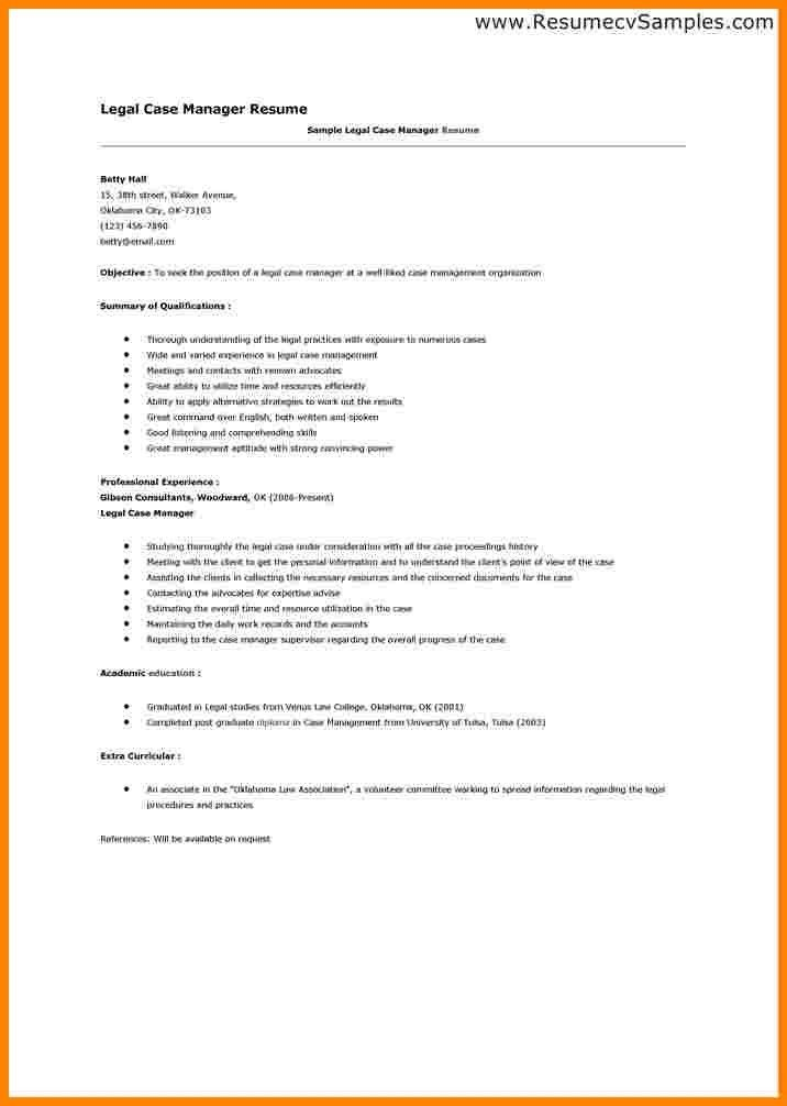 sample case manager resumes