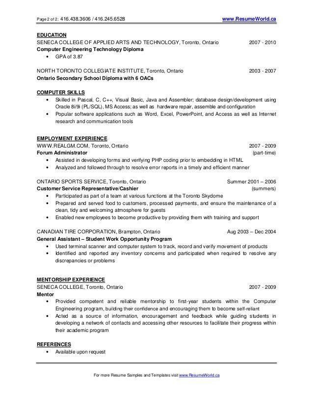 New graduate resume