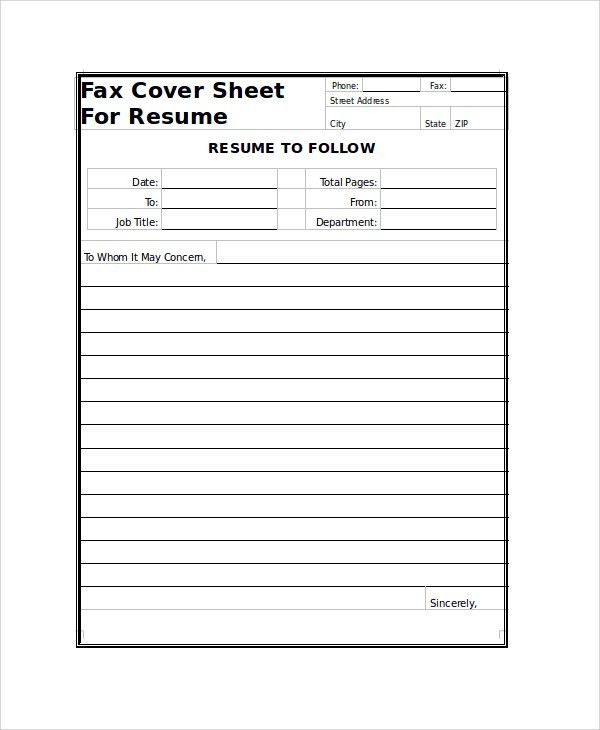 Sample Fax Cover Sheet - 9+ Examples in PDF, Word
