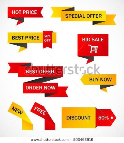 Vector Stickers Price Tag Banner Label Stock Vector 475338169 ...