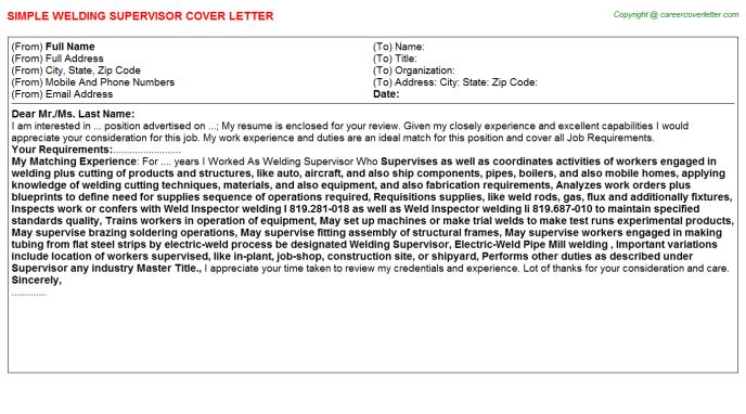 security supervisor cover letter examples