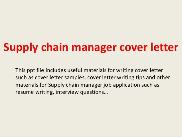 Transport Operations Manager Cover Letter