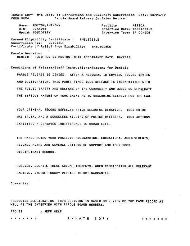 letters support f27e4726cbdb102906e1a7123a4883cf. parole board ...