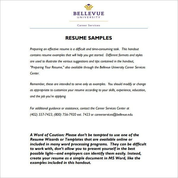 134+ Basic Resume Templates - Free Word, Excel, PDF, Documents ...
