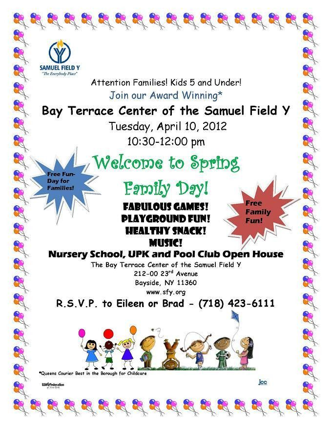 SPRING FAMILY DAY AT BAY TERRACE CENTER FOR EARLY CHILDHOOD ...