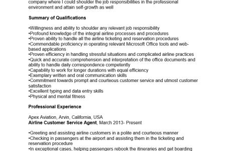 Sample Airline Customer Service Agent Cover Letter Actor Cover
