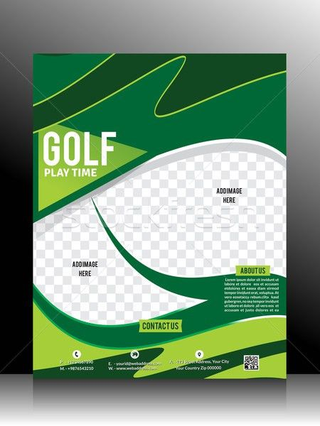 Golf Flyer Template vector illustration © rohit pathak ...