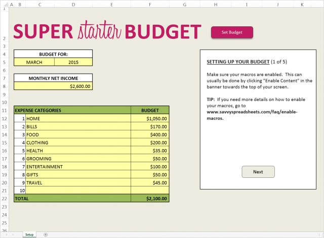 Free Budget Template That is Super Easy