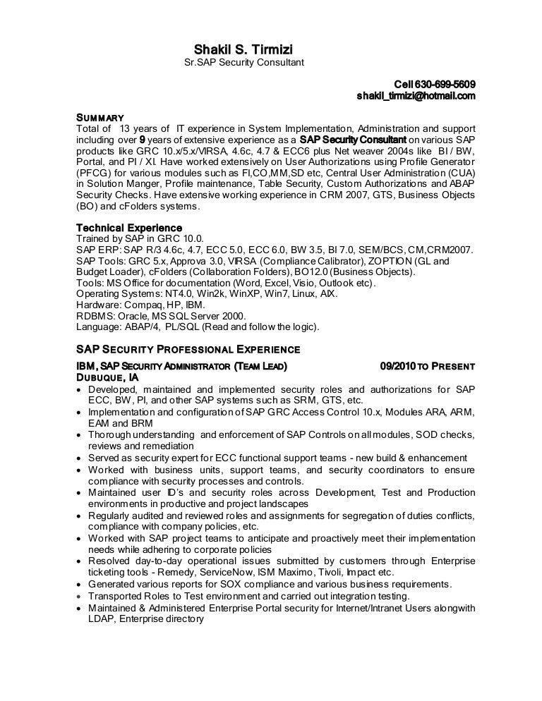 Shakil sap security resume-2