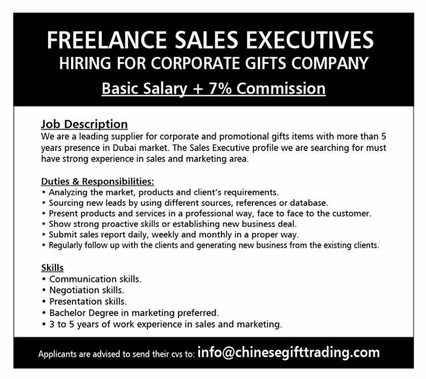 SALES EXECUTIVE REQUIRED FOR CORPORATE GIFTS COMPANY, Mumbai